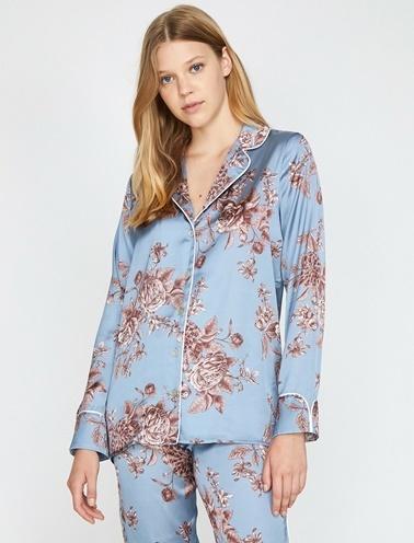 Koton Pijama Üst Mavi